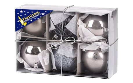 Sada vánočních ozdob Koule LUX 6 ks, pr. 8 cm