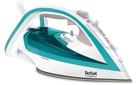 Žehlička Tefal TurboPro FV5603E0 bílá/tyrkysová