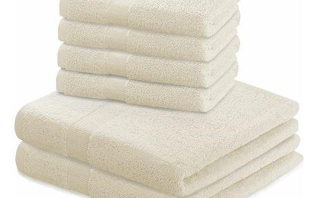 DecoKing Sada ručníků a osušek Marina béžová, 4 ks 50 x 100 cm, 2 ks 70 x 140 cm
