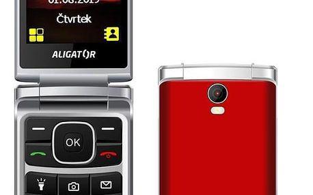 Mobilní telefon Aligator V710 Senior Dual SIM červený (AV710RS)