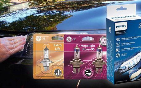 Sada pro renovaci světlometů a žárovky H1, H4 a H7