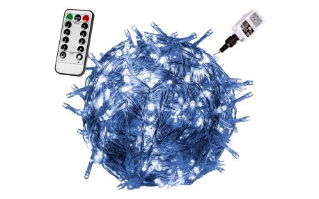 VOLTRONIC® 59739 Vánoční LED osvětlení 40 m - studená bílá 400 LED + ovladač