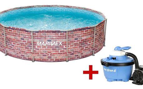 Marimex   Bazén Florida 3,66x0,99 m. s pískovou filtrací - motiv CIHLA   19900077