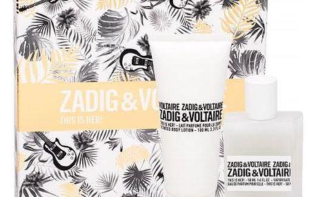 Zadig & Voltaire This is Her! dárková kazeta pro ženy parfémovaná voda 50 ml + tělové mléko 100 ml