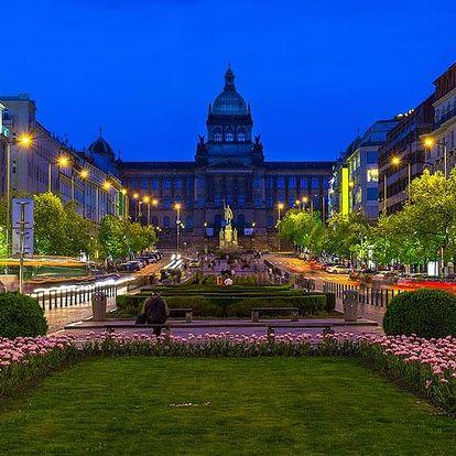 Praha v hotelu nedaleko Václavského náměstí se snídaní