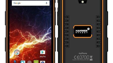 myPhone Hammer Energy LTE Dual SIM černý/oranžový (TELMYAHAENEROR)