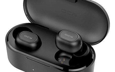 Bezdrátová sluchátka QCY - T2C s dobíjecím boxem - černá