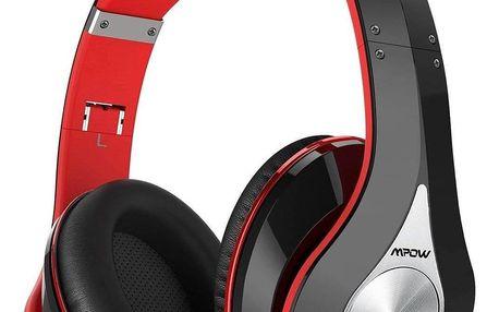 Bezdrátová sluchátka MPOW 059 - červeno-černá