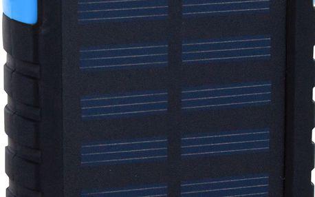 XLayer powerbank PLUS Solar 4000 mAh černá/modrá