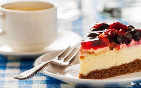 Káva s dortíkem dle výběru pro 1 nebo pro 2