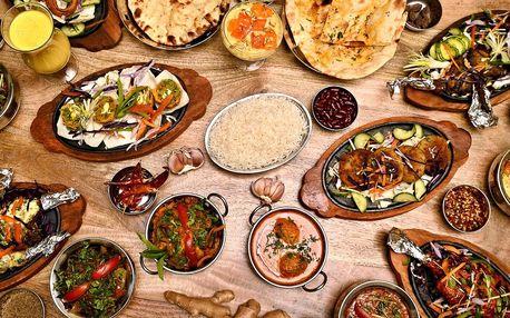 Indická masová nebo vege hostina pro dva