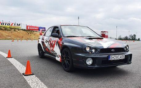 Showcars - 3 nebo 6 kol v Mitsubishi Lancer a Subaru Impreza na Polygonu Brno