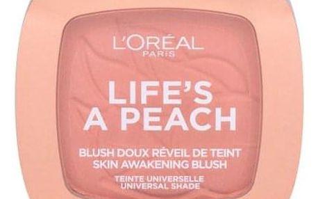 L´Oréal Paris Wake Up & Glow Life´s a Peach 9 ml tvářenka s barvou a vůní broskve pro ženy 01 Peach Addict