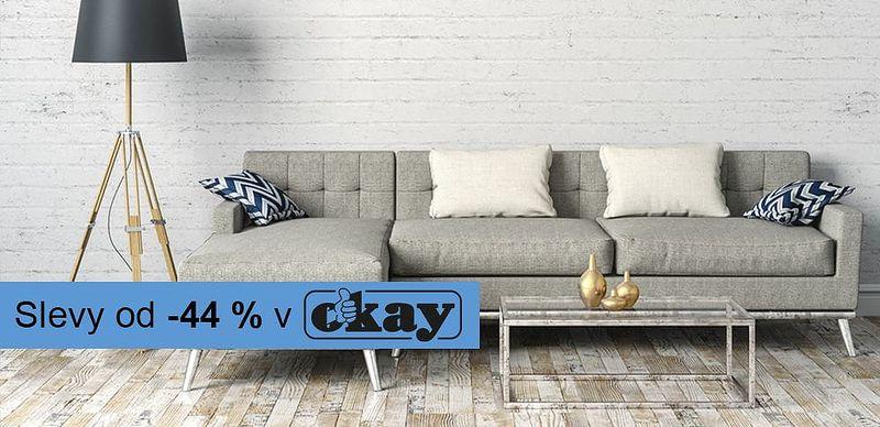 −44 % na nábytek je OKAY