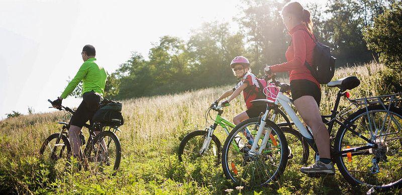 Jižní Čechy s rodinou na kole